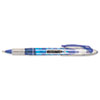 Liquid Flair Porous Point Stick Pen, Blue Ink, Extra Fine, Dozen