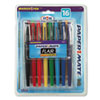 Point Guard Flair Porous Point Stick Pen, Assorted Ink, Medium, 16 per Pack