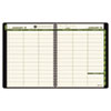 AT-A-GLANCE Recycled Weekly/Monthly Appointment Book, Black, 8 1/4