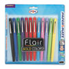 Flair Porous Point Stick Pen, Assorted Ink, Medium, Dozen