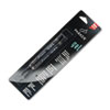 Refill for Gel Ink Roller Ball Pens, Medium, Black Ink, 2/Pack