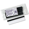 Clear Magnetic Label Holders, Side Load, 6 x 3/4, Clear, 10/Pack