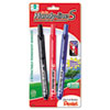 Handy-line S Retractable Permanent Markers, Fine Tip, Assorted Colors, 3/Pack