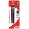 Pentel Sharp Mechanical Drafting Pencil, 0.5 mm, Black Barrel, 2/Pack