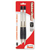 Pentel Quicker Clicker Mechanical Pencil, 0.5 mm, Smoke, 2/Pack