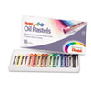 Pentel Oil Pastel Set With Carrying Case,16-Color Set, Assorted, 16/Set