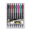 Pilot G2 Gel Ink Pen, Retractable, Assorted Inks, 0.7mm Fine, 8 per Set