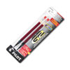 Pilot Refill for G2 Gel, Dr. Grip Gel/Ltd, ExecuGel G6, Q7, Fine Tip, Red, 2/Pack