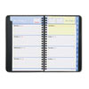AT-A-GLANCE QuickNotes Recycled Weekly/Monthly Appointment Book, Black, 4 7/8