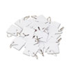 SecurIT Replacement Slotted Key Cabinet Tags, 1 5/8 x 1 1/2, White, 20/Pack