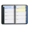 "QuickNotes Recycled Weekly/Monthly Appointment Book, Black, 3 3/4"" x 6"", 2013"