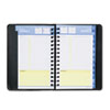 "QuickNotes Recycled Daily/Monthly Appointment Book, Black, 4 7/8"" x 8"", 2013"