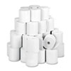 "Paper Rolls, One-Ply Teller Window/Financial, 3"" x 150 ft, White, 50/Carton"