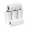 "One-Ply Adding Machine/Calculator Rolls, 2-1/4"" x 17 ft, White, 5/Pack"