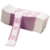 PM Company Color-Coded Kraft Currency Straps, $20 Bill, $2000, Self-Adhesive, 1000/Pack