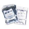 Clear Dual Deposit Bags, Tamper Evident, Plastic, 11 x 15, 100 Bags/Pack