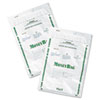 Biodegradable Plastic Money Bags, Tamper Evident, 9 x 12, White, 50/Pack