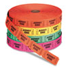PM Company 59002 Admit One Single Ticket Roll, Numbered, Assorted, 2000 Tickets/Roll PMC59002 PMC 59002