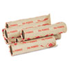Preformed Tubular Coin Wrappers, Pennies, $.50, 1000 Wrappers/Carton