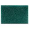 Premiere Pads Heavy-Duty Scour Pad, Green, 6 x 9, 15/Carton