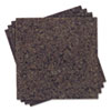 Cork Panel Bulletin Board, Natural Cork, 12 x 12, 4 Panels/Pack