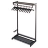"36"" Wide Single-Sided Rack w/Two Shelves, 16 Hangers, Steel, Black"