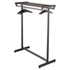 Double-Sided Garment Rack, Steel, Black Powder Coat
