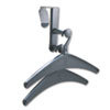 Over-The-Panel Hook with Steel Double-Garment Hanger, 1 3/4 x 6 7/8, Black