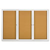 Enclosed Bulletin Board, Natural Cork/Fiberboard, 72 x 48, Aluminum Frame