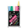 Quartet Glo-Write Fluorescent Markers, Five Assorted Colors, 5/Set