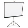 Quartet Portable Tripod Projection Screen, 60 x 60, White Matte, Black Steel Case