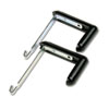Adjustable Cubicle Hangers for 1 1/2 to 3 Inch Panels, Aluminum/Black, 2/Set