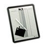 Employee In/Out Board, Porcelain, 11 x 14, Gray, Black Aluminum Frame