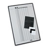 Magnetic Employee In/Out Board, Porcelain, 24 x 36, Gray/Black Aluminum Frame