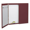 Cabinet, Fabric/Porcelain-on-Steel, 48 x 48 x 24, Mauve/White, Mahogany Frame