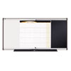 3-in-1 Combo Dry Erase/Bulletin/Calendar Board, 48 x 24, Black, Aluminum Frame