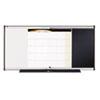 3-in-1 Combo Dry Erase/Bulletin/Calendar Board, 48 x 24, Black, Aluminum Frame