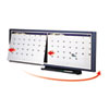 Modular 2-Month Calendar System for Cubicles, 36 x 12, Graphite Gray