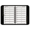 AT-A-GLANCE Telephone/Address Book, 4-7/8 x 8, Black
