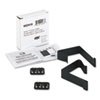 Cubicle Partition Hangers, Black, 2/Set