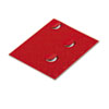 Magnetic Characters, Magnetic, Red, 3/4&quot;dia 20/Set