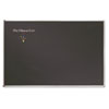 Porcelain Black Chalkboard w/Aluminum Frame, 51 x 37, Silver