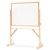Reversible Dry-Erase Board, Melamine, 72 x 48, White, Oak Hardwood Frame