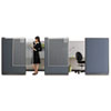 Workstation Privacy Screen, 36w x 48h, Translucent Clear