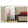 Premium Workstation Privacy Screen, 38w x 65h, Translucent Clear