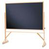 Quartet WTR406810 Reversible Chalkboard w/Hardwood Frame, 48 x 72 QRTWTR406810 QRT WTR406810