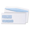 Quality Park Double Window Security Tinted Check Envelope, #9, White, 1000/Box