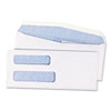 Double Window Security Tinted Check Envelope, #8, White, 1000/Box