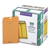Quality Park Clasp Envelope, 6 x 9, 28lb, Brown Kraft, 500/Carton