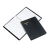 Recycled Visitor Register Book, Black, 8 1/2 x 11